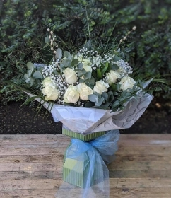White Rose Floral Box